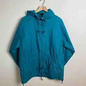 Vintage Woolrich Blue Nylon Rain Hooded Jacket